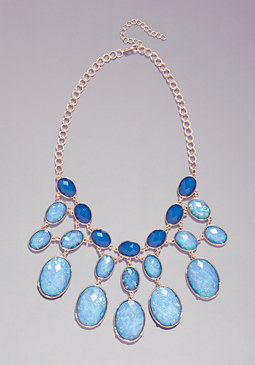 bebe Hologram Bauble Necklace