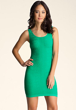 bebe Back Cutout Wave Dress