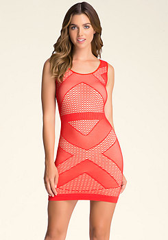 bebe Triangle Double Layer Dress