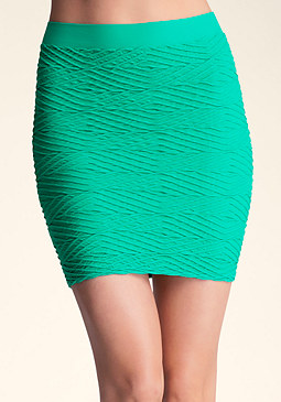 bebe Diamond Textured Skirt