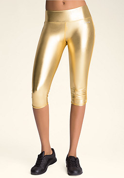 Sport Metallic Foil Capri at bebe