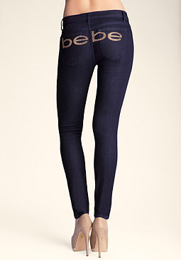 Super Stretch Skinny Jeans at bebe