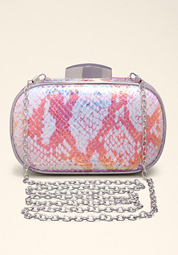 Iridescent Minaudiere at bebe