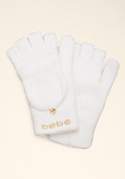 Chenille Convertible Gloves at bebe