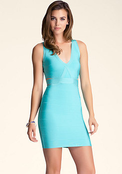 bebe Overlap Cutout Dress