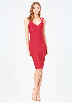 3 Strap Midi Bandage Dress