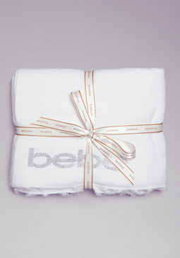 bebe Plush Logo Blanket at bebe