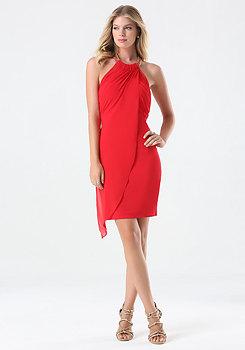 Draped Overlay Dress at bebe