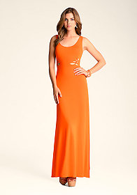 bebe Knot Slash Maxi Dress