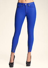 bebe Matte Coated Ankle Skinny