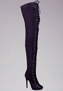 Taryn Lace Up Thigh High Boots at bebe