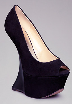 bebe Everest Lucite Wedges