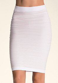 bebe High-Waist Lurex Skirt