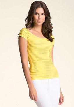 Short Sleeve Shimmer Top at bebe