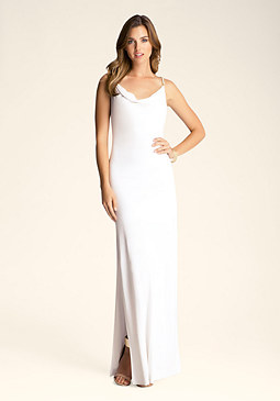 bebe Long Cowl Neck Dress