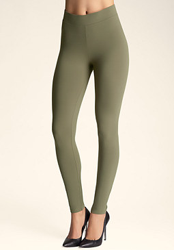 bebe Back Zip Power Leggings