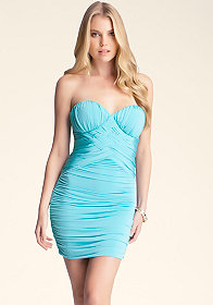 bebe Braided Strapless Dress