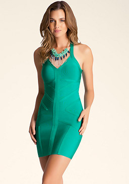 Geo Trim Bodycon Dress at 2b