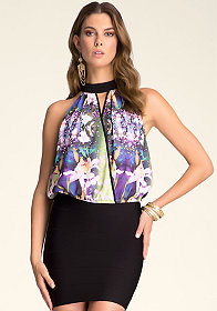 Surplice Halter Top at bebe