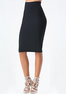 Petite Knit Midi Skirt
