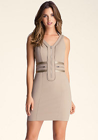 bebe Multi-Zipper Paula Dress