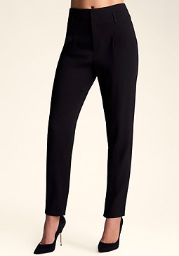 bebe High Waist Pleated Pant