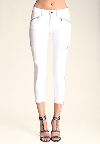 Cargo Zip Capri Jeans at bebe