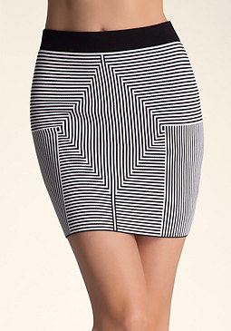 Mitre Stripe Skirt at bebe