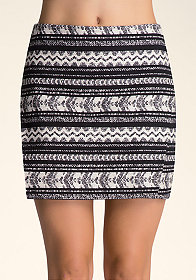 bebe Dual Layer Mini Skirt