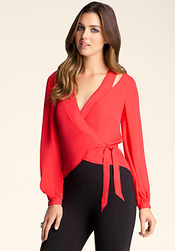 bebe Cut-Out Shoulder Top