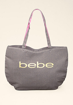 Sparkle Logo Tote at bebe