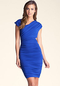 bebe Cutout Asymmetrical Dress