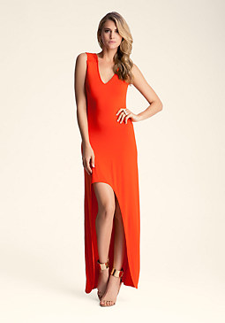 Hi Low Crochet Maxi Dress at bebe