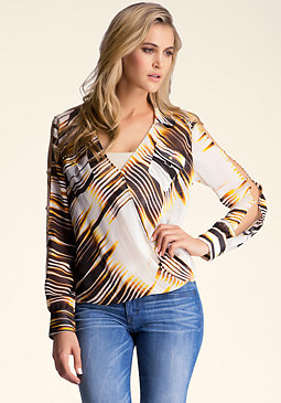 bebe Slit Sleeve Top