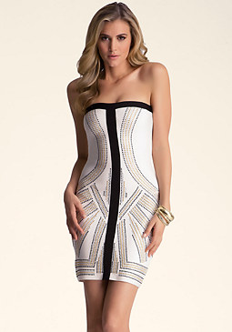 bebe Embellished Tube Dress