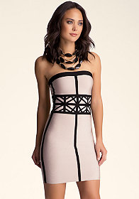 Strapless Bodycon Dress at bebe