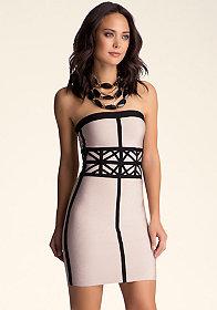 Strapless Bodycon Dress at bebe
