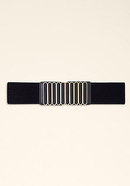bebe Multi Bar Stretch Belt