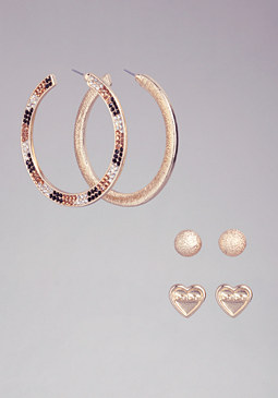 Multi-Crystals Earring Set at bebe