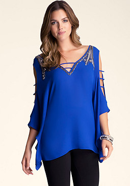 bebe Cold Shoulder Sleeve Tunic