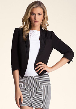 Soutache Detail Jacket at bebe