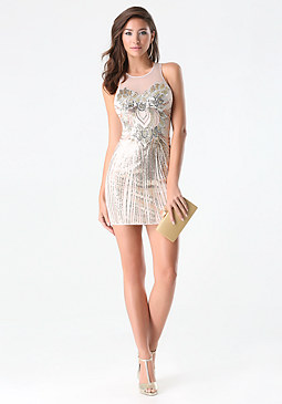 Sequin Embellished Dress at bebe