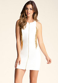 bebe Metal Zip Front Dress