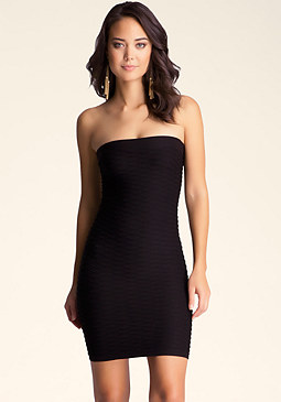 bebe Wave Textured Tube Dress