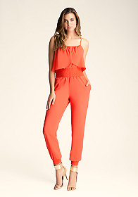 bebe Drape Top Jumpsuit