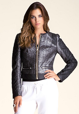 bebe Boucle Crop Wool Jacket