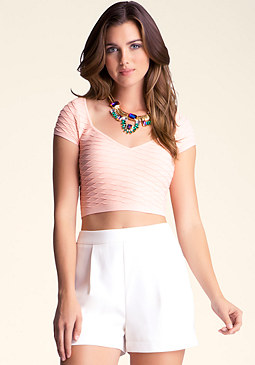 Textured Crop Top at 2b