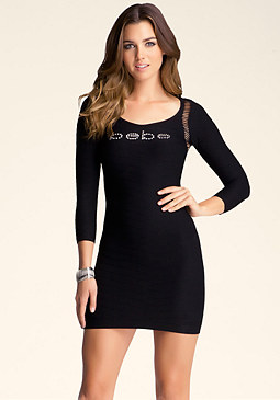 bebe Tubular Keyhole Dress