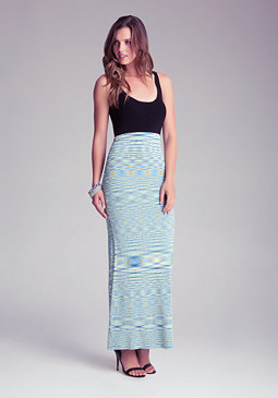 bebe Petite Space Dye Maxi Dress