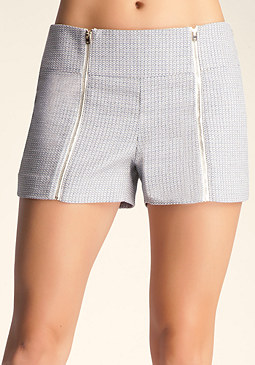 bebe High Waist Zipper Short
